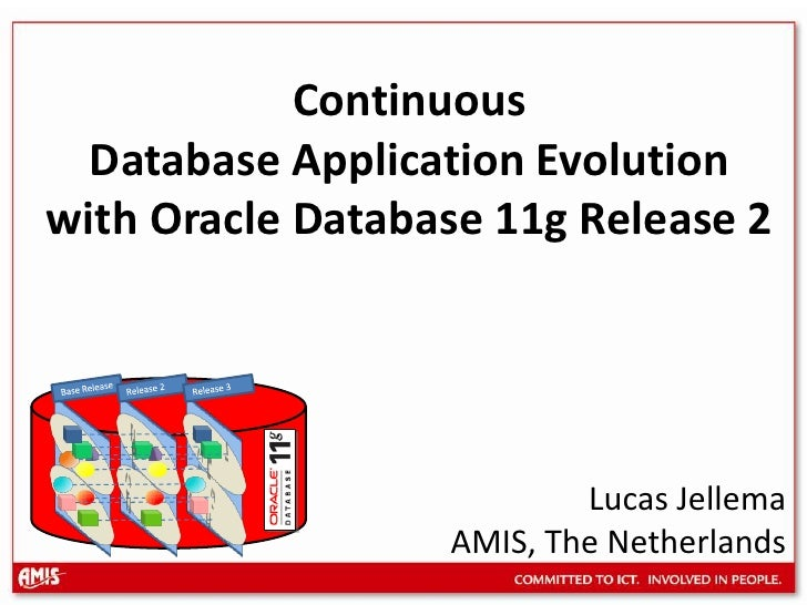 Release 2<br />Release 3<br />Base Release<br />Continuous Database Application Evolution with Oracle Database 11g Release...