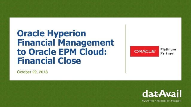 Oracle Hyperion Financial Management to Oracle EPM Cloud