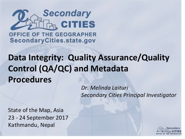 Prof. Melinda Laituri, Colorado State University | Map Data Integrity…