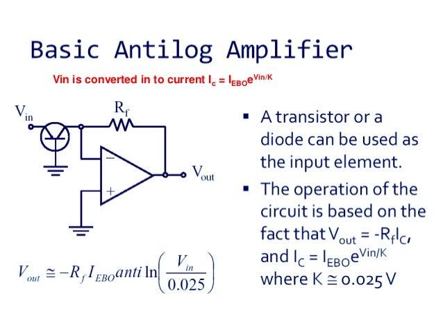 ANTILOG AMPLIFIER USING OP AMP PDF