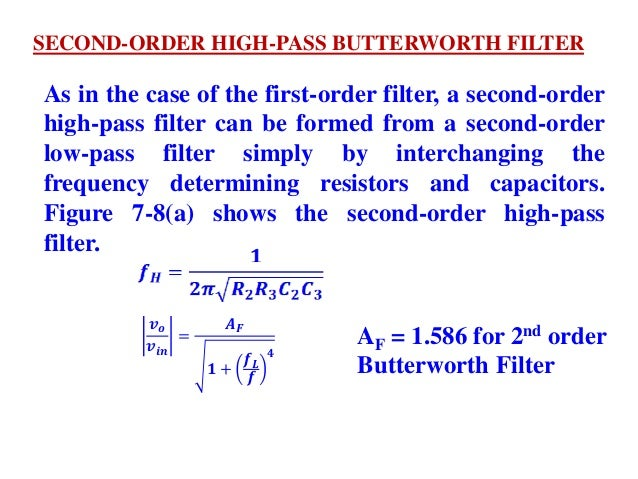Op amp applications filters cw final