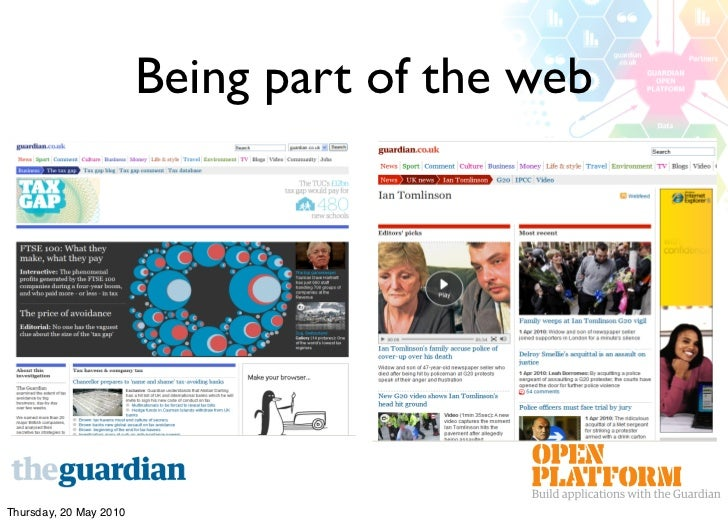 Being part of the web     Thursday, 20 May 2010