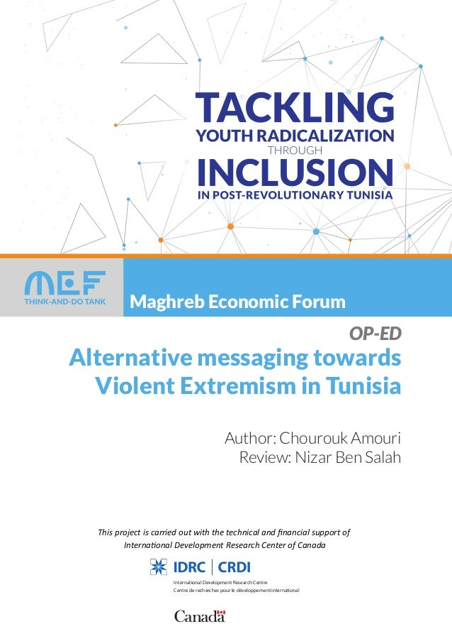 Maghreb Economic Forum This project is carried out with the technical and financial support of International Development Re...
