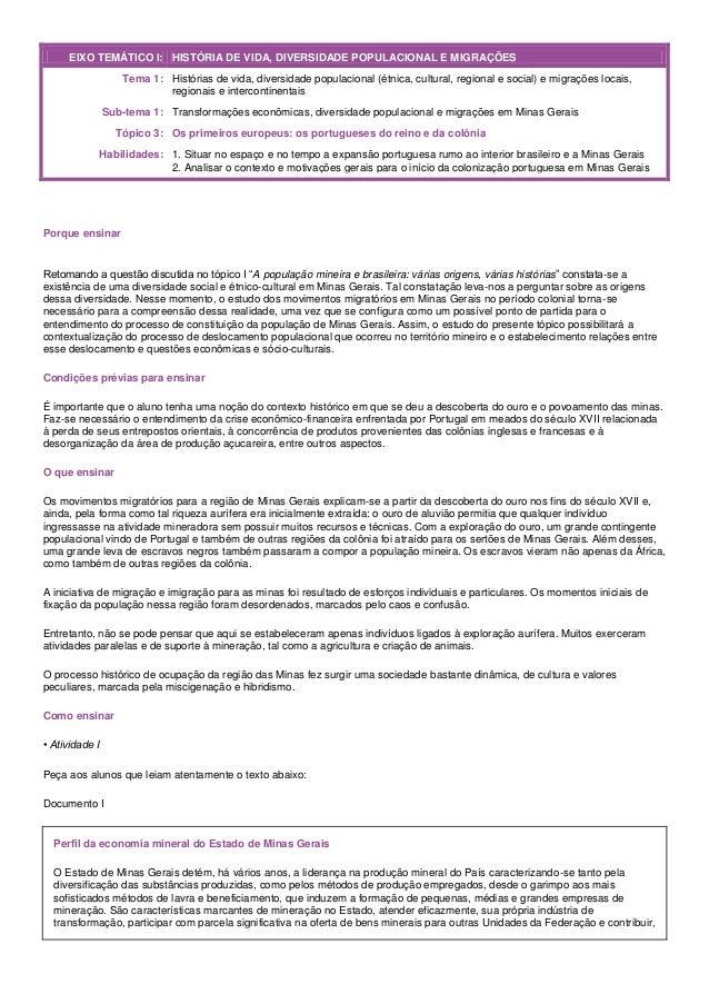 EIXO TEMÁTICO I: HISTÓRIA DE VIDA, DIVERSIDADE POPULACIONAL E MIGRAÇÕES                   Tema 1: Histórias de vida, diver...