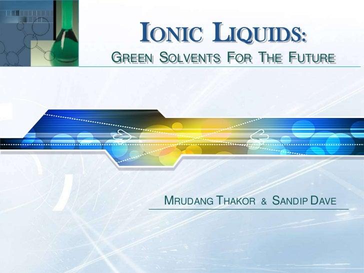Why Are Ionic Liquids Liquid At Room Temperature