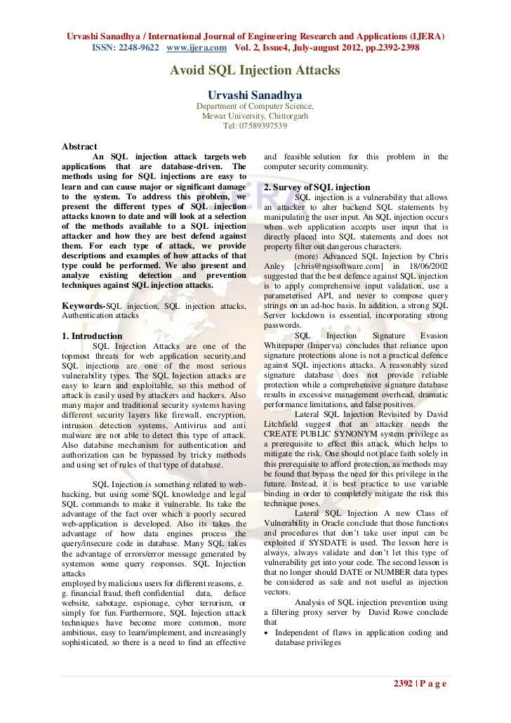 Urvashi Sanadhya / International Journal of Engineering Research and Applications (IJERA)      ISSN: 2248-9622 www.ijera.c...