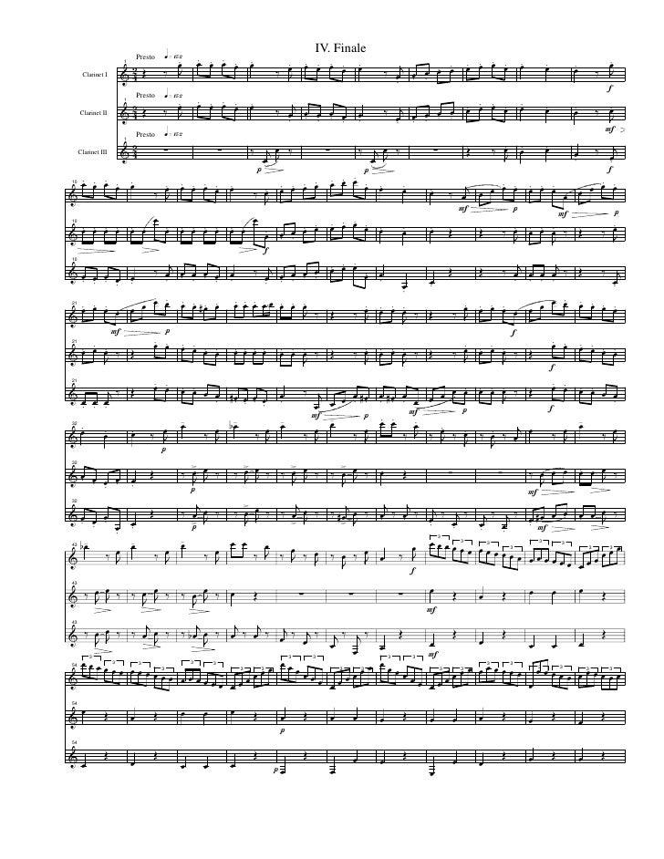 trio para tres clarinetes Op87Beethoven