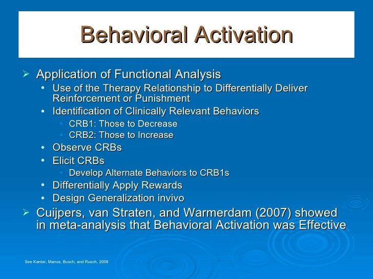 activation therapy behavioral