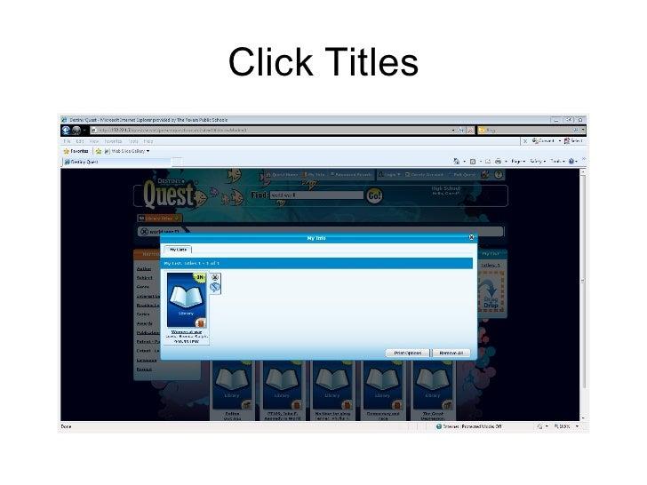 Click Titles