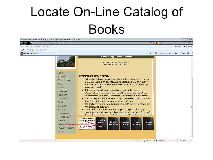 Locate On-Line Catalog of Books