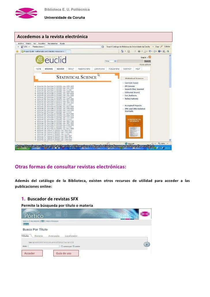 Acceso Las Revistas Electrnicas Desde El Catlogo 728 Cb Publicaciones Electronicas Imss