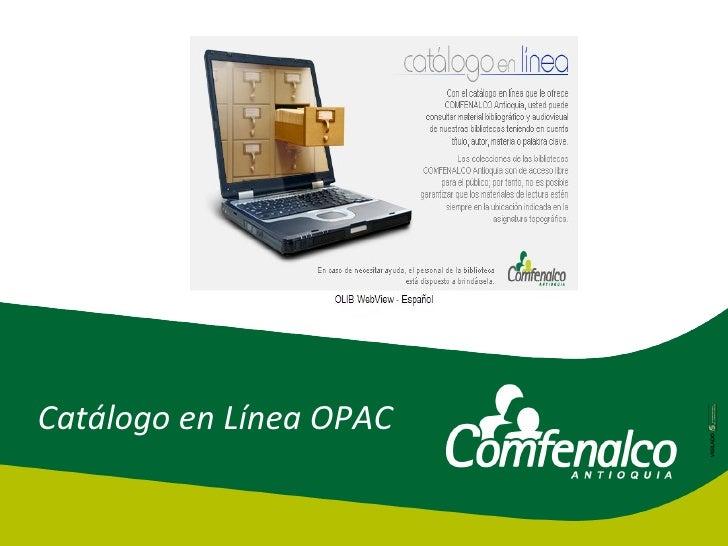 Catálogo en Línea OPAC