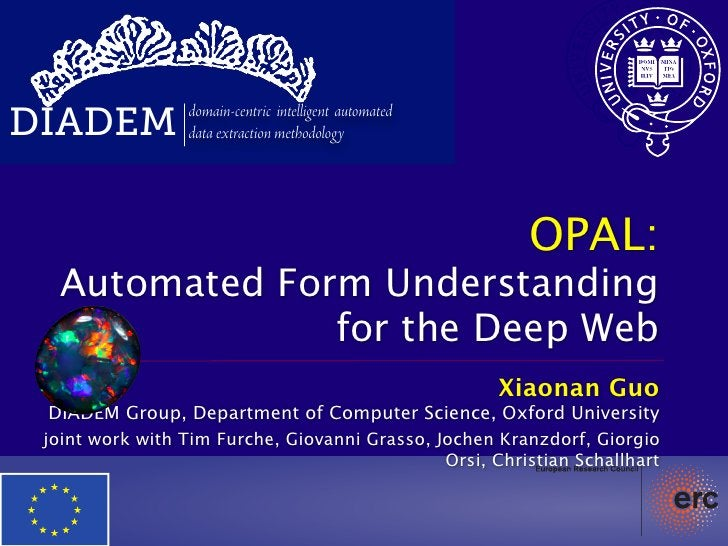 DIADEM           domain-centric intelligent automated                 data extraction methodology                         ...
