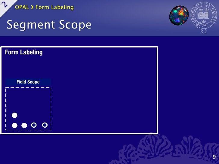 OPAL ›❯ Form Labeling2    Segment ScopeForm Labeling     Field Scope                             9