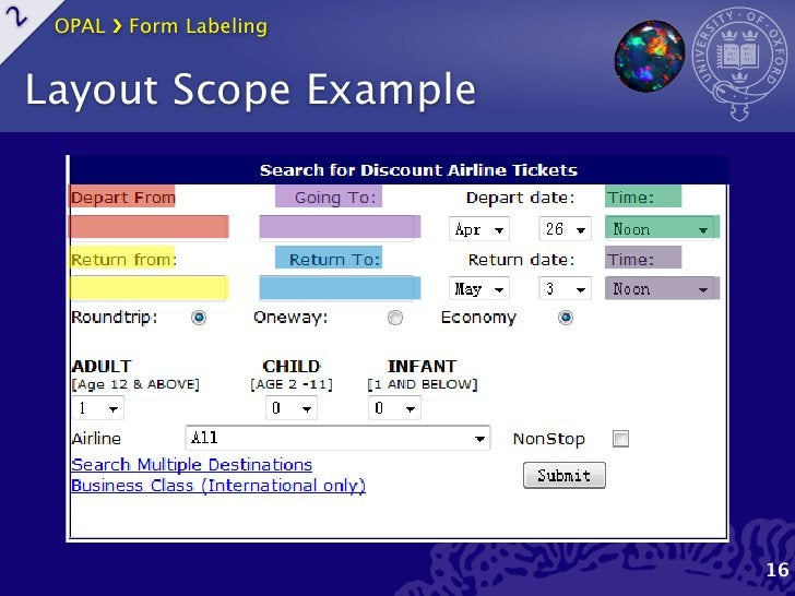 OPAL ›❯ Form Labeling2    Layout Scope Example                             16
