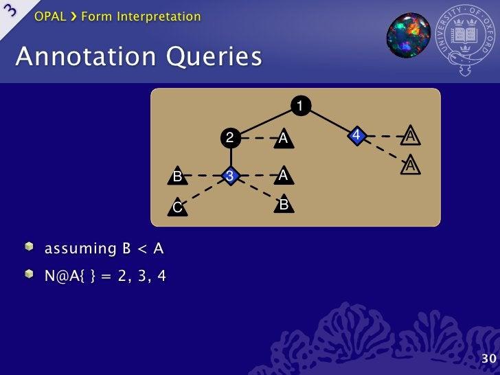 OPAL ›❯ Form Interpretation3    Annotation Queries                                                1                       ...