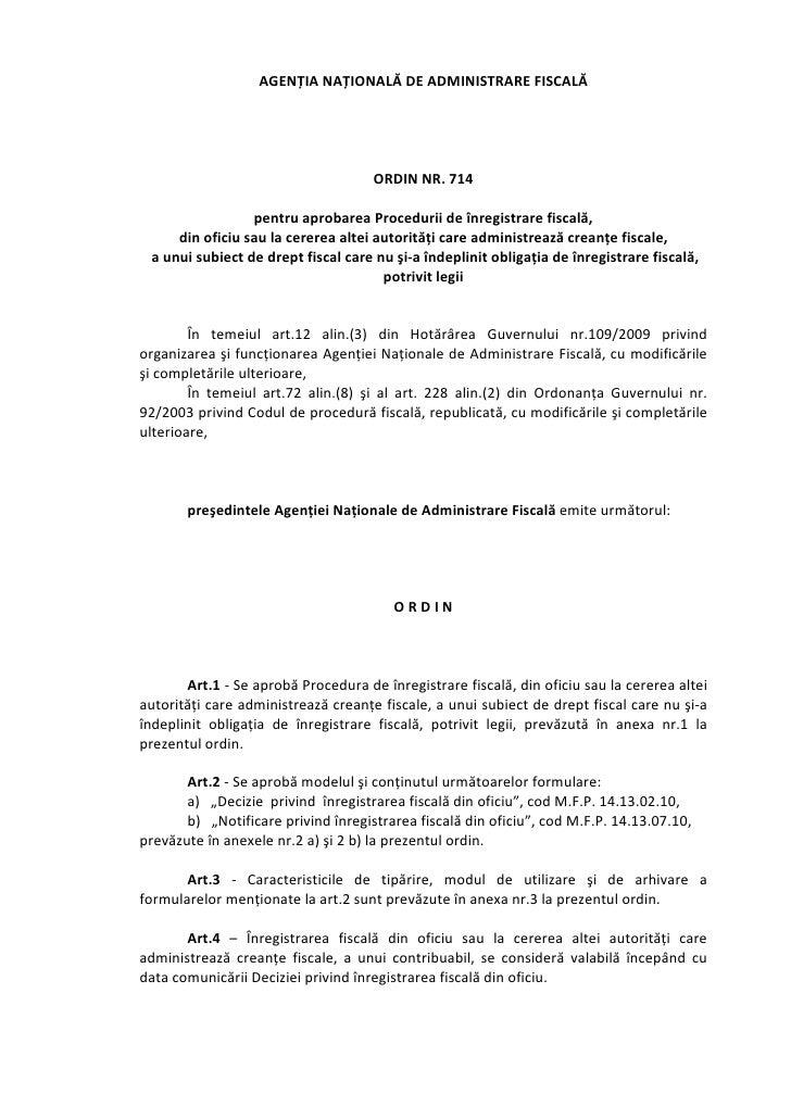 AGENȚIANAȚIONALĂDEADMINISTRAREFISCALĂ                                                                               ...