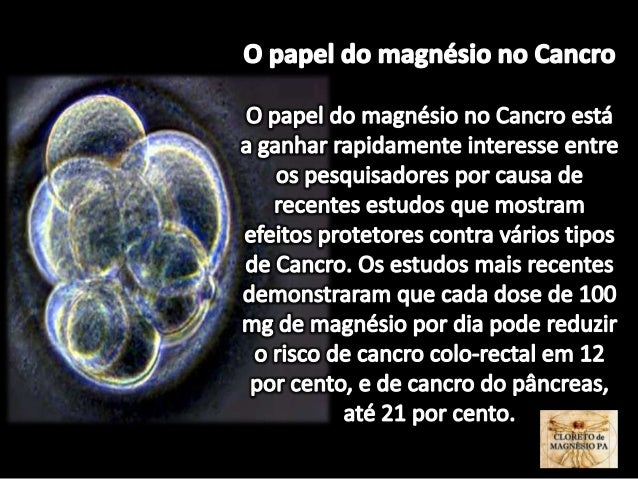 O papel do magnésio no Cancro