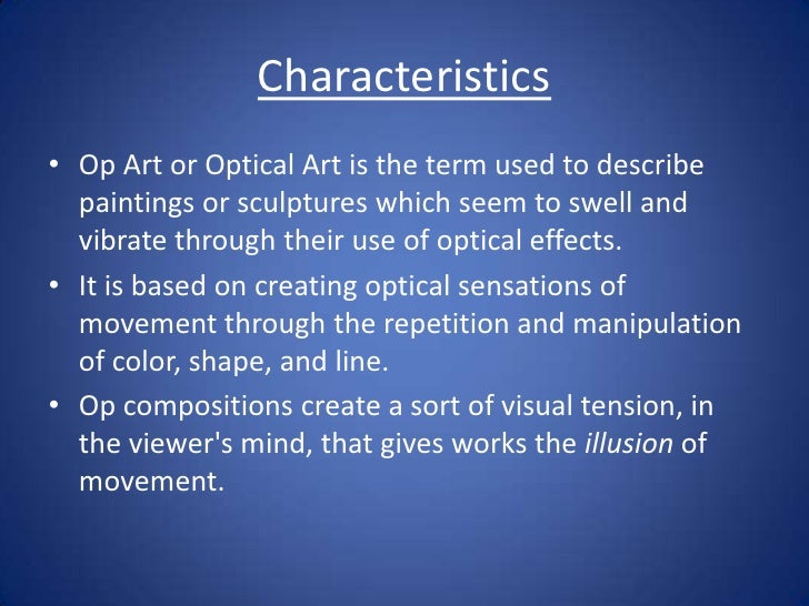 Characteristics Of Line In Art : Op art