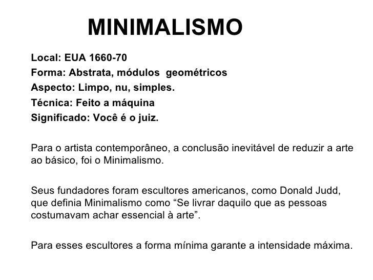 Op art minimalismo e instala o 9 ano for Minimalista significado