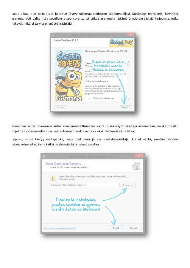 Opas Lataus ja asennus näytönsäästäjiä – screensavers Slide 2