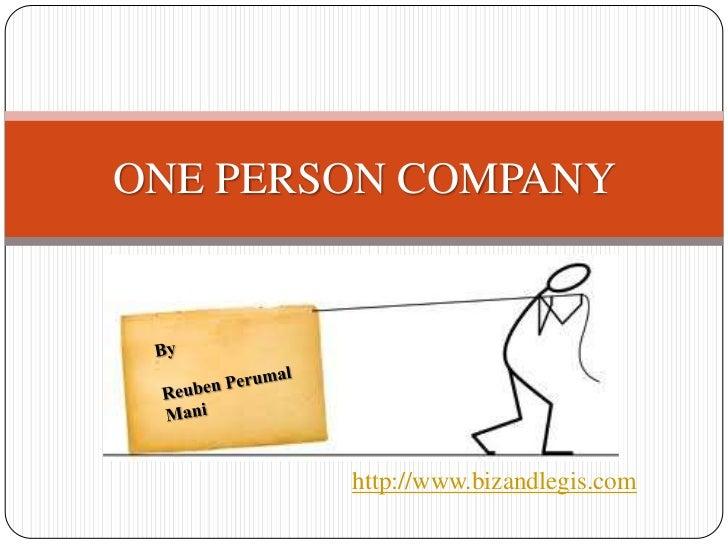 ONE PERSON COMPANY        http://www.bizandlegis.com