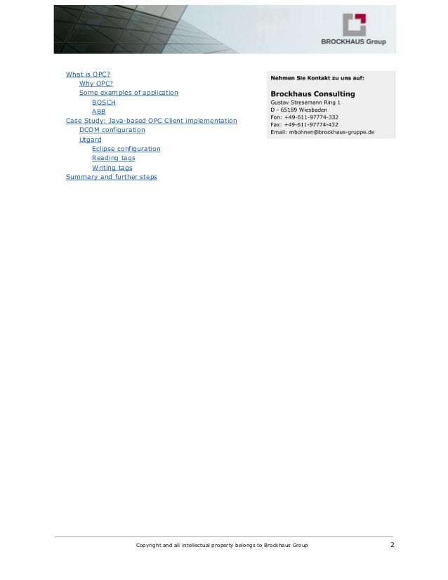 OPC -Connectivity using Java Slide 2