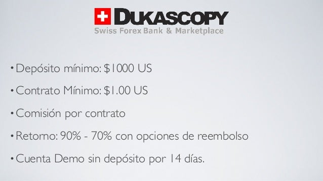 Broker opciones binarias regulado demo sin deposito