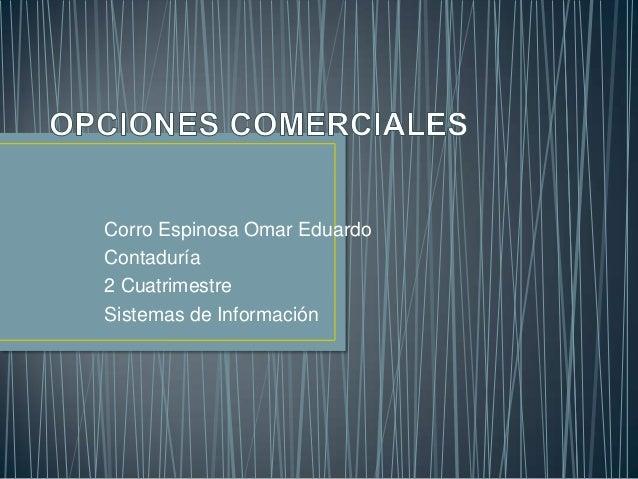 Corro Espinosa Omar EduardoContaduría2 CuatrimestreSistemas de Información