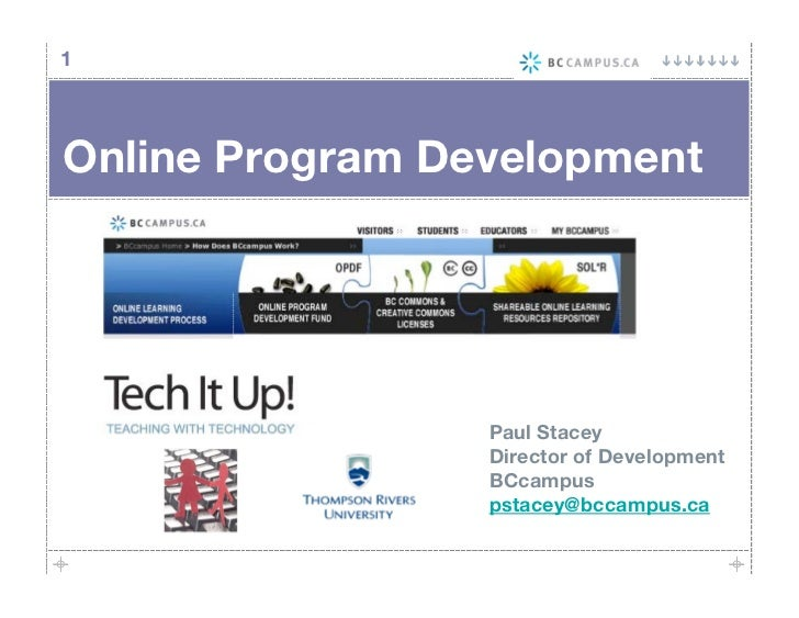1     Online Program Development                      Paul Stacey                  Director of Development                ...