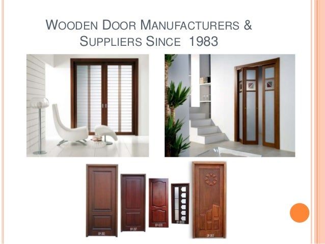 sc 1 st  SlideShare & Wooden Door Manufacturers