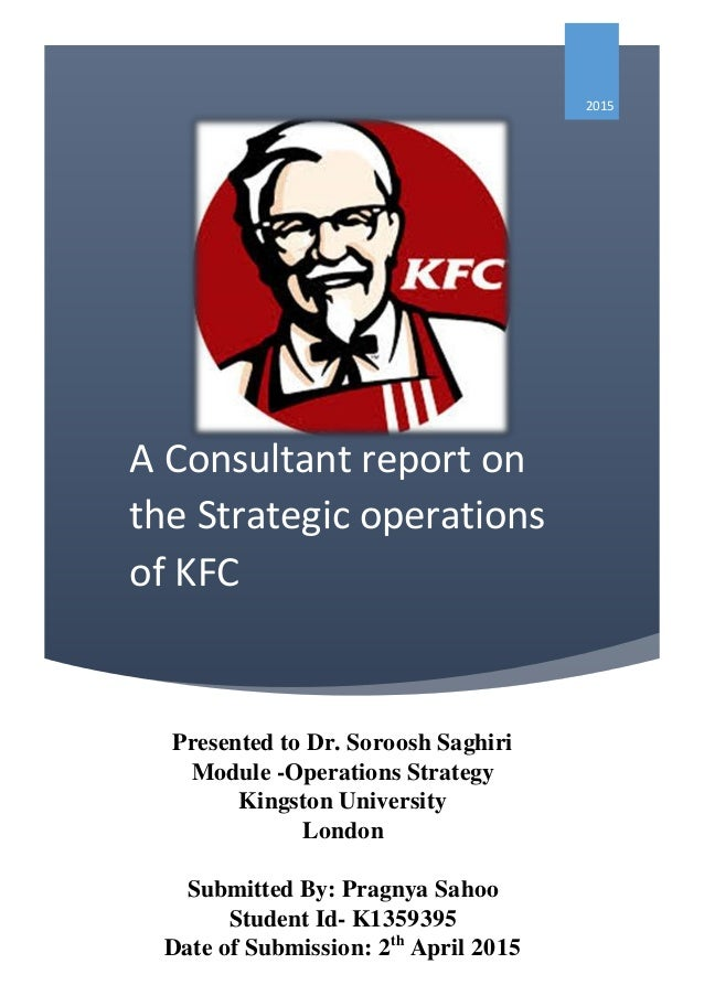 Operation strategy assignment kfc