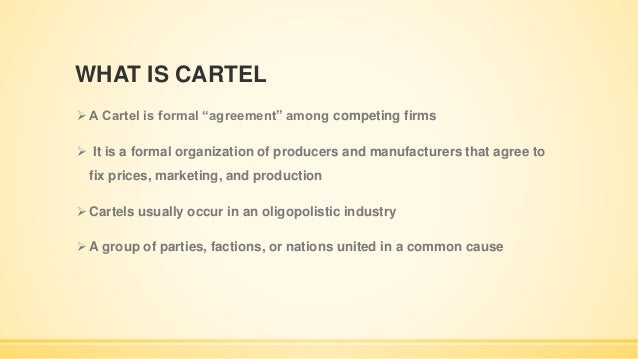 The theory of the firm oligopoly open/formal collusion ppt video.