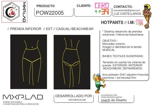 HOTPANTS // I.M: * Diseñoy desarrollo de prendas exteriores //interiores//beachwear. OBJETIVO : Mercadeo externo. Imagen e...