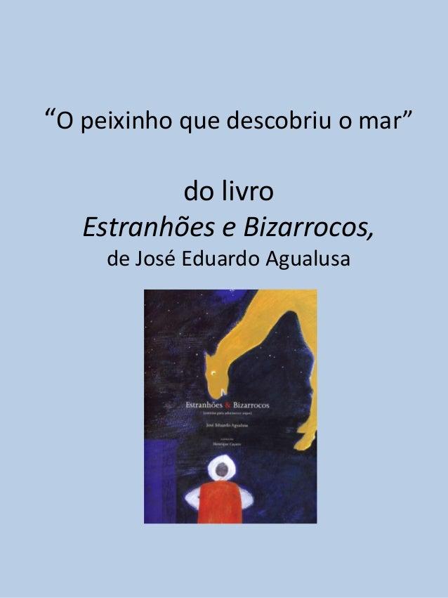 """""""O peixinho que descobriu o mar""""           do livro   Estranhões e Bizarrocos,     de José Eduardo Agualusa"""