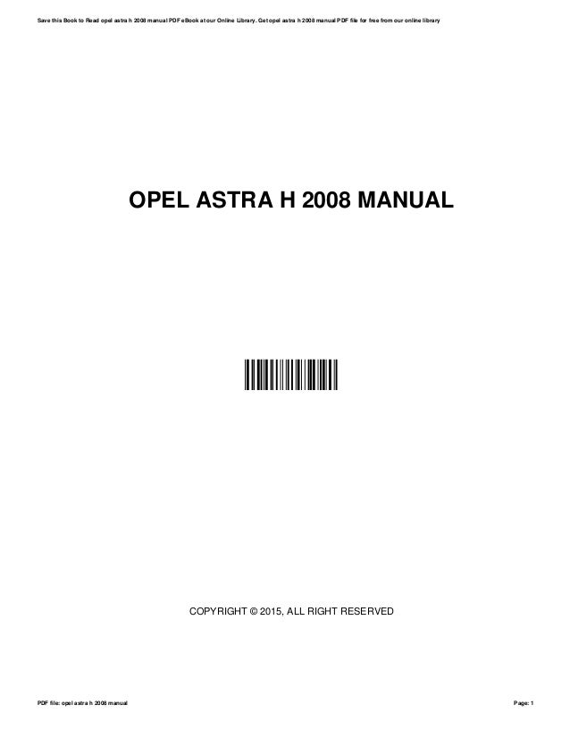Opel / vauxhall astra service and repair manual free youtube.