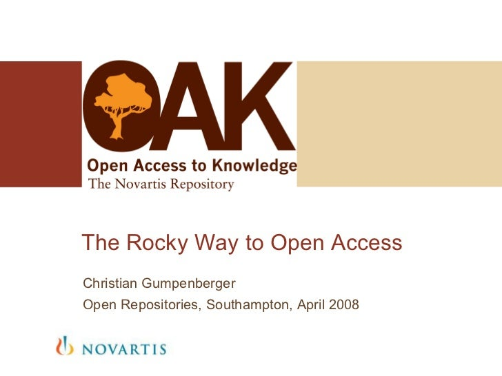 The Rocky Way to Open Access Christian Gumpenberger Open Repositories, Southampton, April 2008