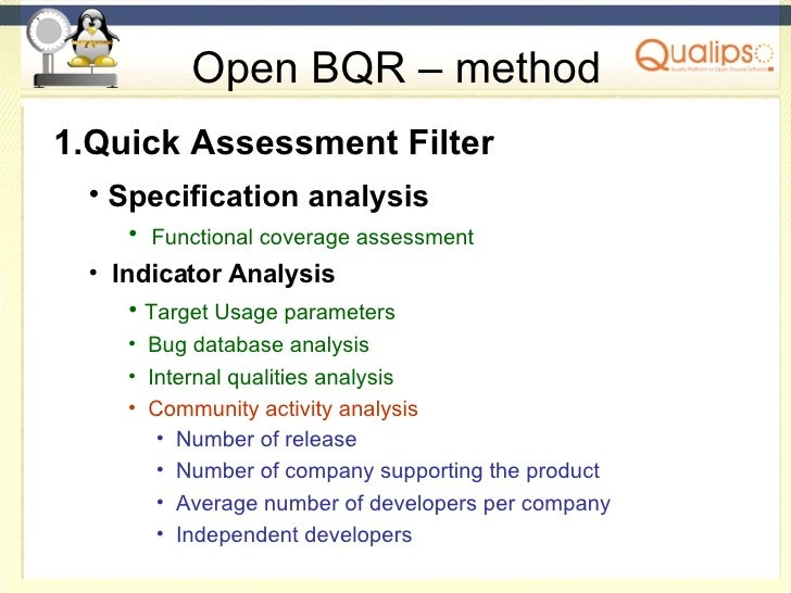 Open Bqr an Open Framework for the assessment of Open Source