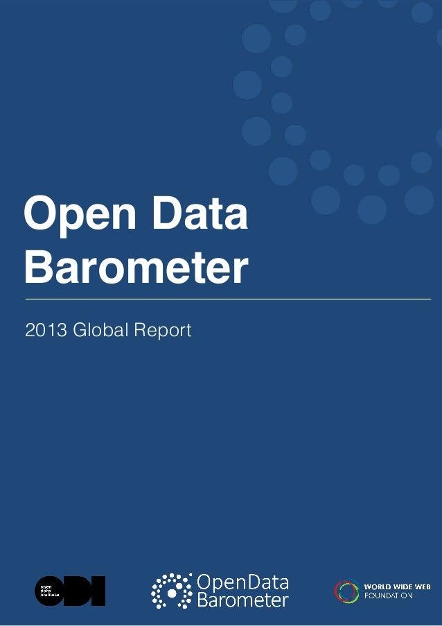 Open Data Barometer 2013 Global Report  1