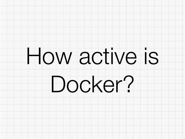 How active is  Docker?