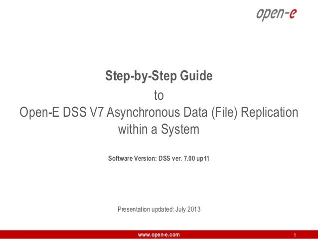 Step-by-Step Guide to Open-E DSS V7 Asynchronous Data (File) Replication within a System Software Version: DSS ver. 7.00 u...