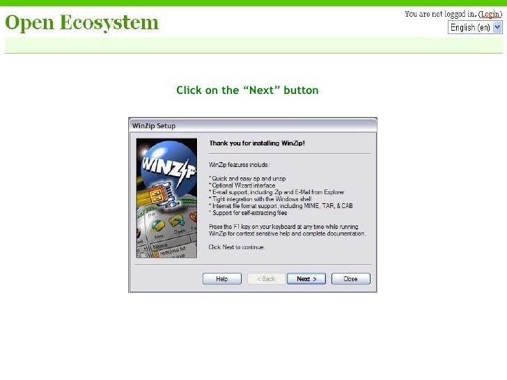 Open Ecosystem Winzip Installation