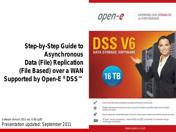 Step-by-Step Guide to               Asynchronous        Data (File) Replication     (File Based) over a WAN Supported by O...