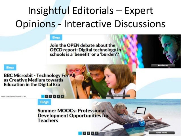 Insightful Editorials – Expert Opinions - Interactive Discussions 10