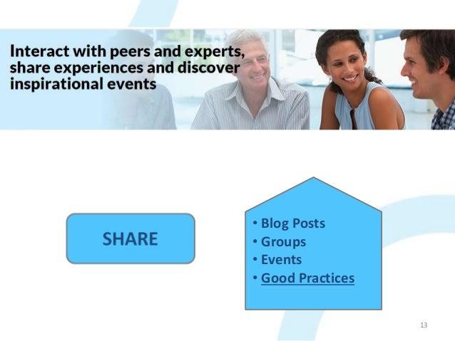 IN-DEPTH 13 • Blog Posts • Groups • Events • Good Practices