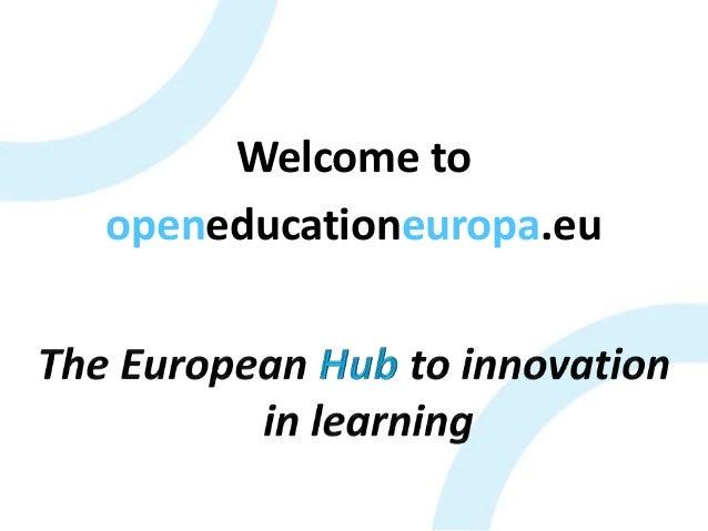 Welcome to openeducationeuropa.eu