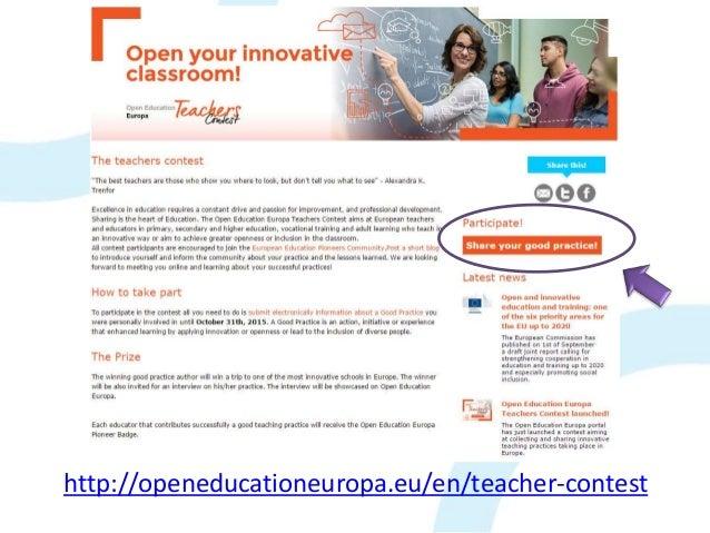 http://openeducationeuropa.eu/en/teacher-contest