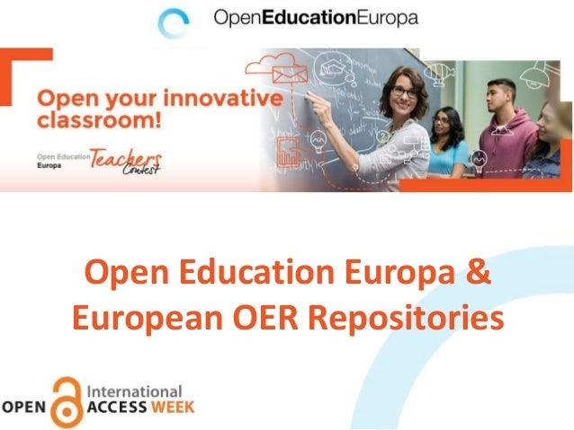 Open Education Europa & European OER Repositories
