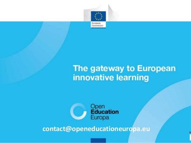 44 contact@openeducationeuropa.eu H