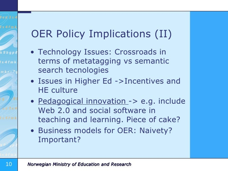 how to write policy implications